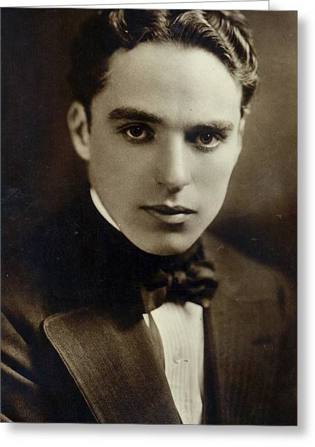 Photo . Portrait Greeting Cards - Portrait of Charlie Chaplin Greeting Card by American Photographer
