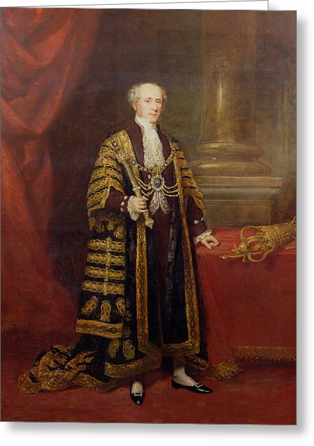 Robes Greeting Cards - Portrait Of Colonel Sir Samuel Wilson, Lord Mayor Of London, 1838 Oil On Canvas Greeting Card by Charles Martin