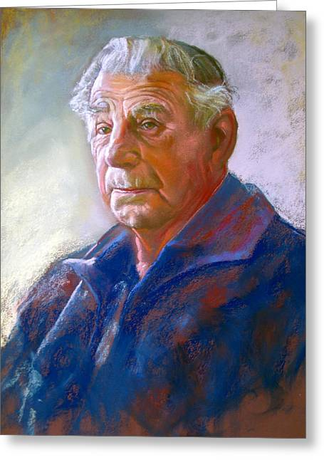 Lynda Robinson Greeting Cards - Portrait of Con Conning Greeting Card by Lynda Robinson