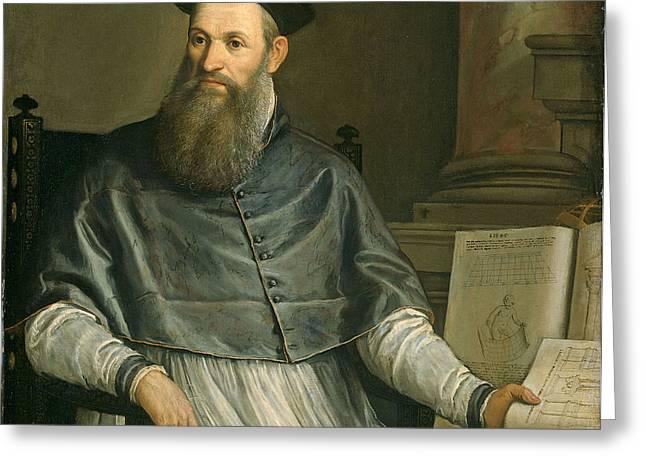 Portrait of Daniele Barbaro Greeting Card by Paolo Caliari Veronese