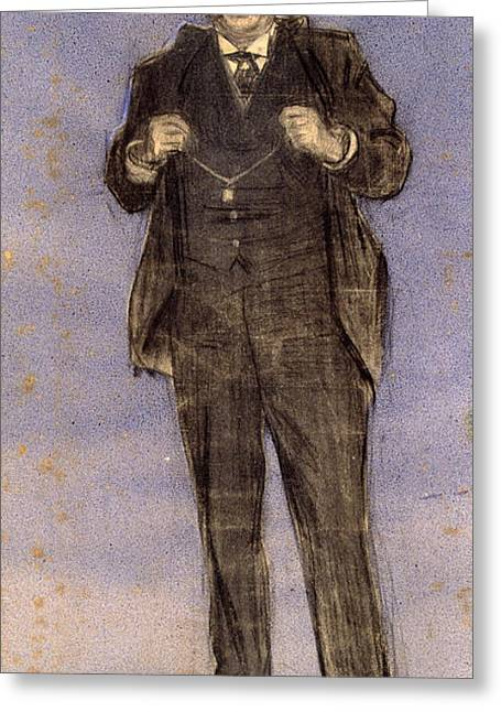 Portrait Of Dionis Puig Greeting Card by Ramon Casas