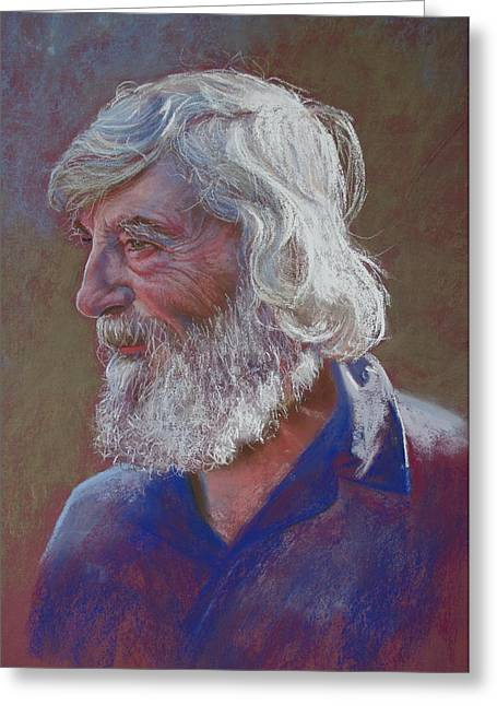 Lynda Robinson Greeting Cards - Portrait of Doug Dale Greeting Card by Lynda Robinson