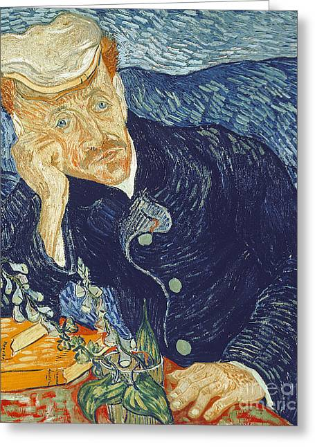 Book Jacket Greeting Cards - Portrait of Dr Gachet Greeting Card by Vincent Van Gogh