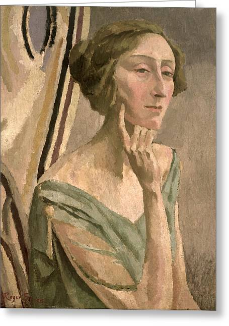 Poet Greeting Cards - Portrait Of Edith Sitwell , 1915 Greeting Card by Roger Eliot Fry