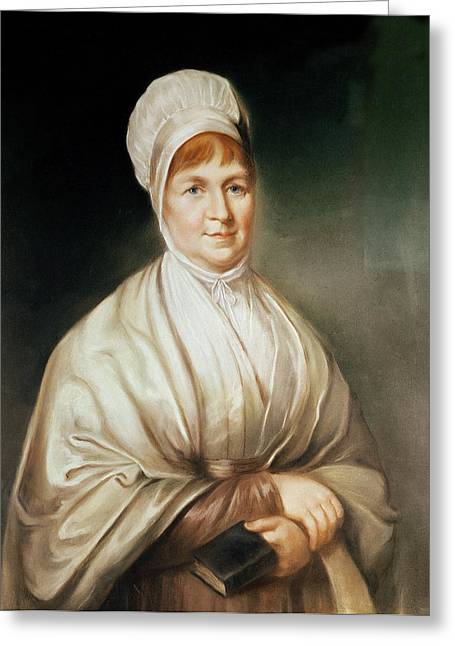 Reform Greeting Cards - Portrait Of Elizabeth Fry 1780-1845 Greeting Card by English School