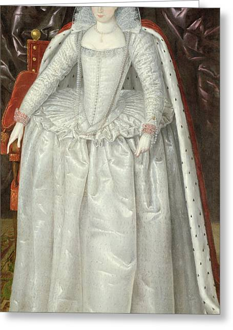 Honour Greeting Cards - Portrait Of Elizabeth Vernon, Countess Greeting Card by English School