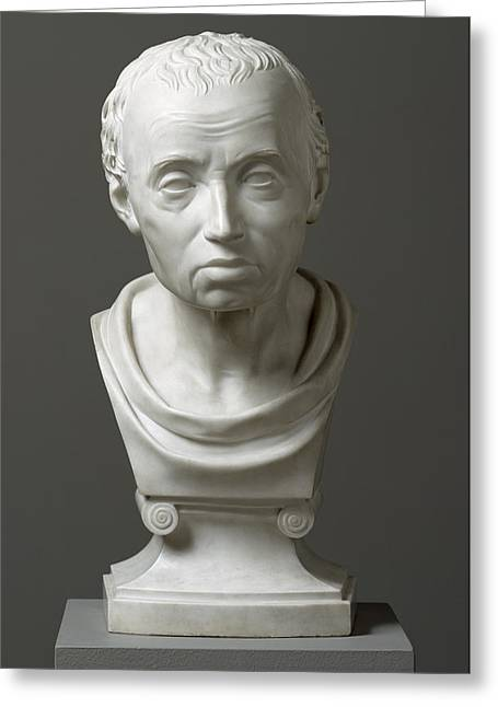 Sculptures Sculptures Greeting Cards - Portrait of Emmanuel Kant  Greeting Card by Friedrich Hagemann