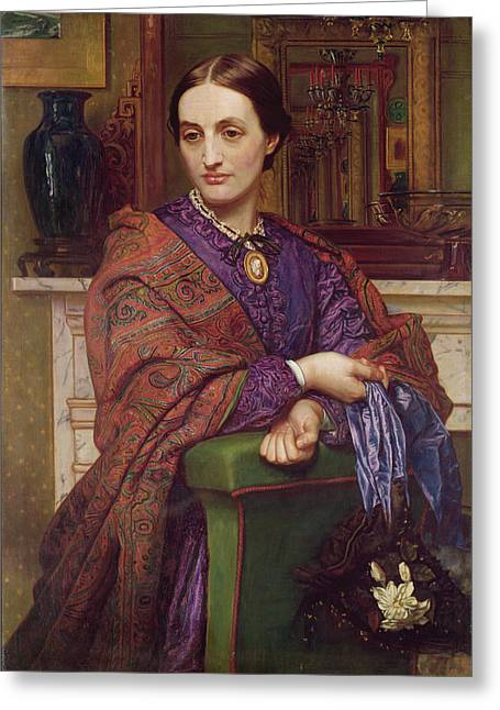 Candelabra Greeting Cards - Portrait Of Fanny Holman Hunt 1866-68 Greeting Card by William Holman Hunt