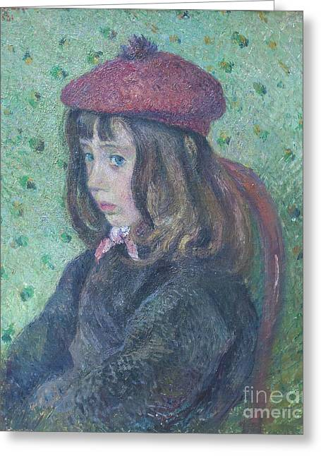 Camille Pissarro Photographs Greeting Cards - Portrait of Felix Pissarro by Camille Pissarro Greeting Card by Roberto Morgenthaler