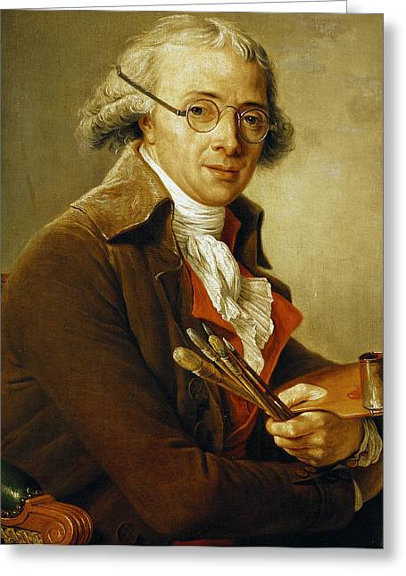 Portrait Of Francois-andre Vincent Greeting Card by Adelaide Labille-Guiard
