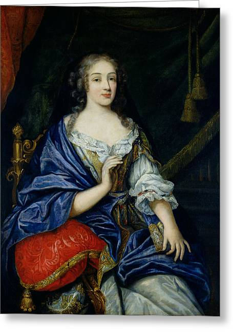 Duchess Greeting Cards - Portrait Of Francoise-louise De La Baume Le Blanc 1644-1710 Duchesse De Vaujour, Called Greeting Card by Jean Nocret