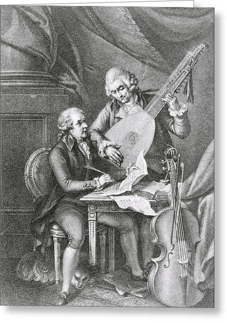 Duet Greeting Cards - Portrait Of Franz Joseph Haydn Greeting Card by John Francis Rigaud