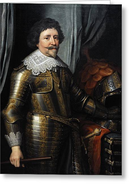 17th Greeting Cards - Portrait Of Frederick Henry, Prince Of Orange 1584-1647, C.1632, By Michiel Jansz Van Mierevelt Greeting Card by Bridgeman Images