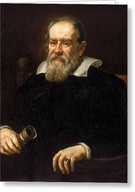 Galileo Greeting Cards - Portrait of Galileo Galilei Greeting Card by Justus Sustermans