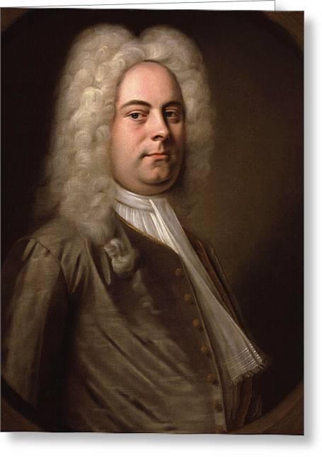 Balthasar Greeting Cards - Portrait of Georg Friedrich Handel Greeting Card by Balthasar Denner