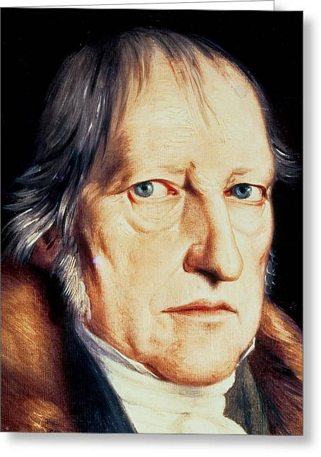 Collar Greeting Cards - Portrait of Georg Wilhelm Friedrich Hegel Greeting Card by Jacob Schlesinger