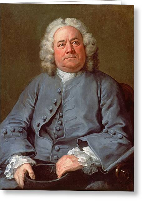 Wig Greeting Cards - Portrait Of George Arnold Esq. Of Ashby Greeting Card by William Hogarth