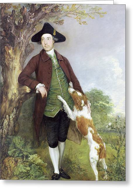 Spaniel Greeting Cards - Portrait Of George Venables Vernon, 2nd Greeting Card by Thomas Gainsborough