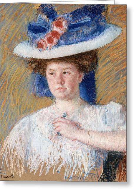 Self-portrait Greeting Cards - Portrait Of Helen Sears Greeting Card by Mary Cassatt