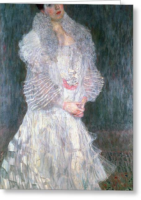 Dress Greeting Cards - Portrait Of Hermine Gallia 1904 Greeting Card by Gustav Klimt