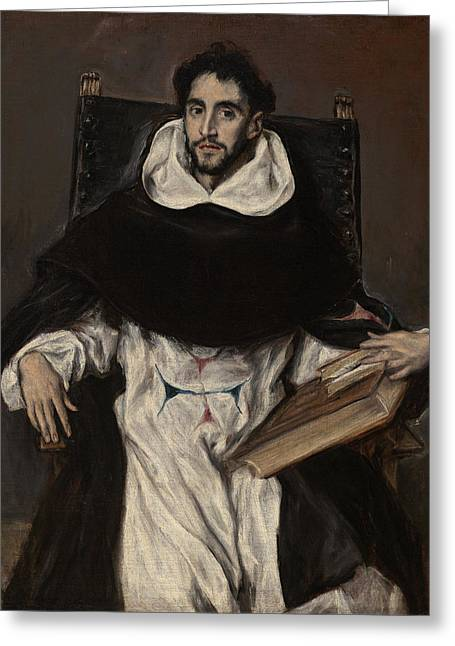 Popular Beliefs Greeting Cards - Portrait of Hortensio Felix Paravicino Greeting Card by El Greco