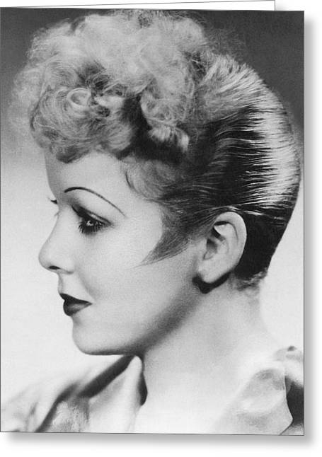 Portrait Of Ida Lupino Greeting Card by Underwood Archives