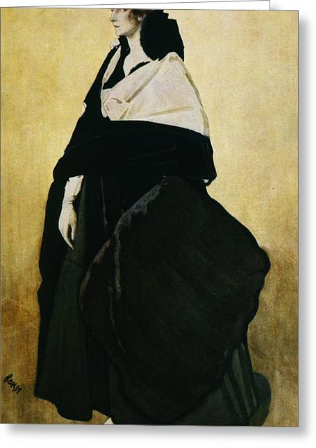 Stylized Paintings Greeting Cards - Portrait of Ida Lvovna Rubinstein Greeting Card by Leon Bakst