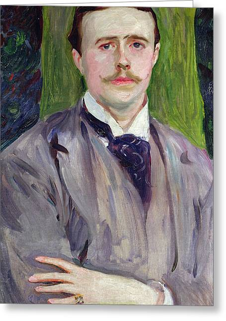 Suave Greeting Cards - Portrait of Jacques-Emile Blanche Greeting Card by John Singer Sargent