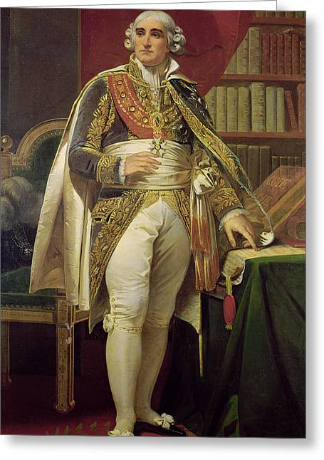 Neo Greeting Cards - Portrait Of Jean-jacques-regis De Cambaceres 1753-1824 Oil On Canvas Greeting Card by Henri-Frederic Schopin