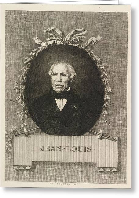 Portrait Of Jean-louis Greeting Card by British Library