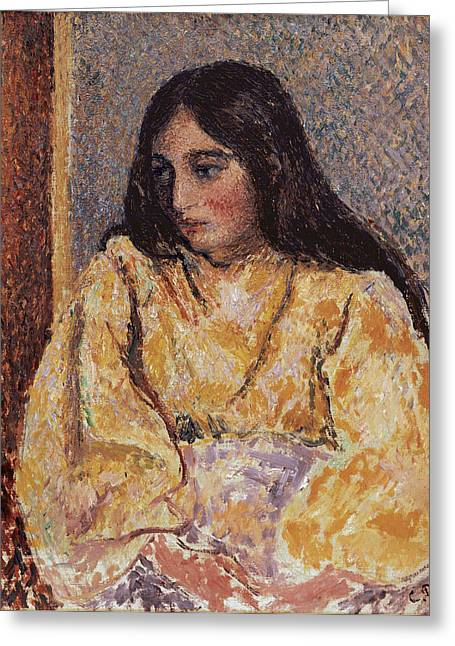 Portrait Of Jeanne, C.1893 Greeting Card by Camille Pissarro