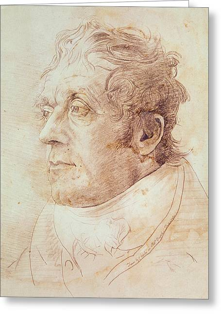 Nose Drawings Greeting Cards - Portrait of JMW Turner Greeting Card by Cornelius Varley