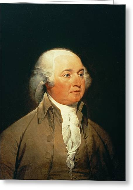 Vice Presidents Greeting Cards - Portrait Of John Adams, C.1793 Oil On Canvas Greeting Card by John Trumbull