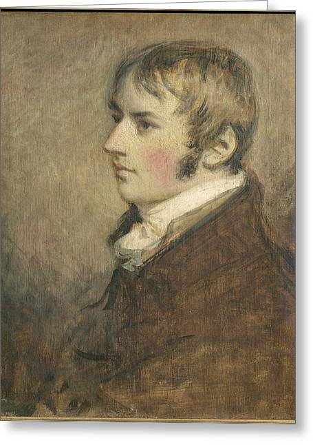Sideburns Greeting Cards - Portrait Of John Constable Aged Twenty Greeting Card by Daniel Gardner