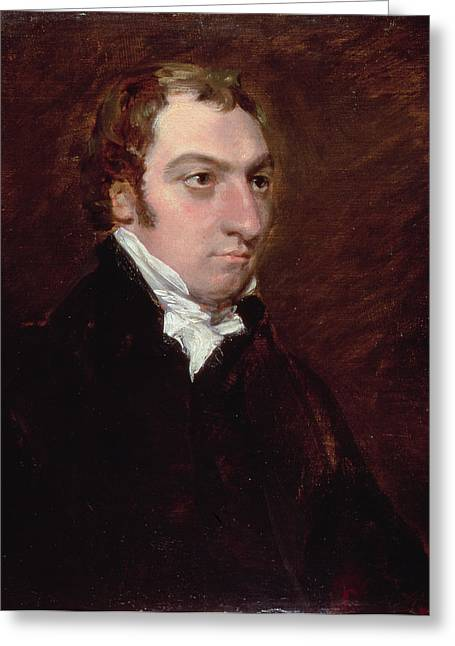 Clergyman Greeting Cards - Portrait Of John Fisher, Archdeacon Greeting Card by John Constable