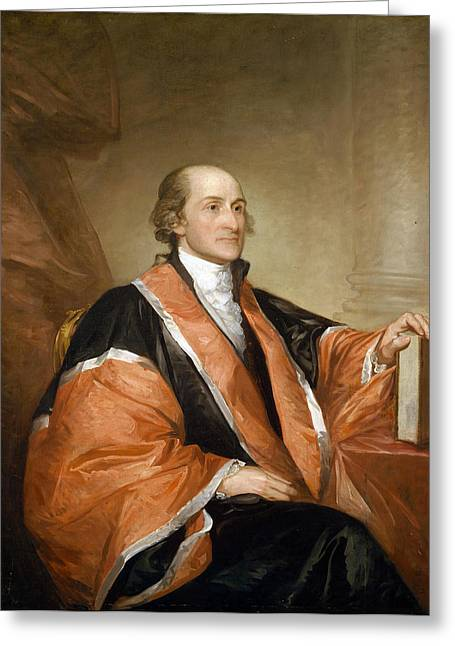 Diplomat Greeting Cards - Portrait of John Jay Greeting Card by Celestial Images