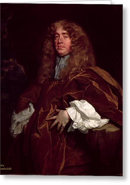 Council Greeting Cards - Portrait Of John Maitland, 1st Duke Of Lauderdale 1616-82 C.1665 Greeting Card by Sir Peter Lely