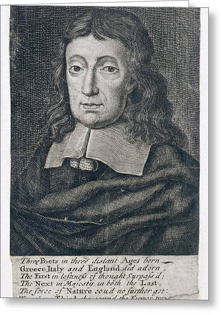 Portrait Of John Milton Greeting Card by British Library