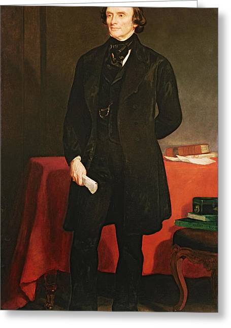 Politician Photographs Greeting Cards - Portrait Of John Russell 1792-1878 1st Earl Russell, 1853 Oil On Canvas Greeting Card by Sir Francis Grant