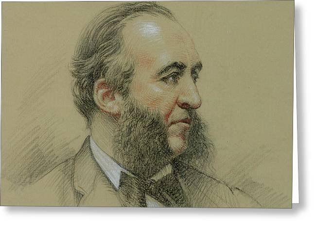 Sideburns Greeting Cards - Portrait of Jules Ferry Greeting Card by Paul Sarrut