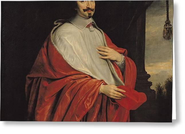 Portrait Of Jules Mazarin Greeting Card by Philippe de Champaigne