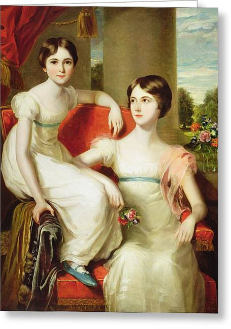 White Paintings Greeting Cards - Portrait Of Lady Caroline Augusta Greeting Card by Thomas Barber
