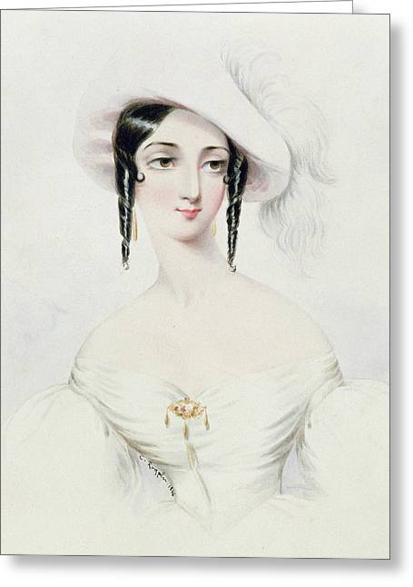 Blushing Greeting Cards - Portrait of Lola Montez Greeting Card by Camille Joseph Roqueplan