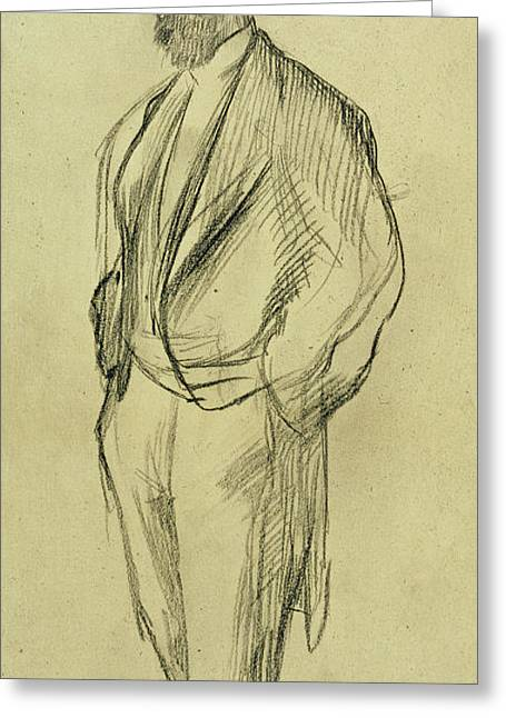 Hand In Pocket Greeting Cards - Portrait of Ludovic Halevy Greeting Card by Edgar Degas