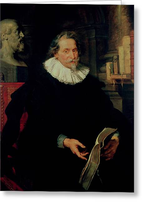 Portrait Of Ludovicus Nonnius C.1553-16456 C.1627 Oil On Panel Greeting Card by Peter Paul Rubens
