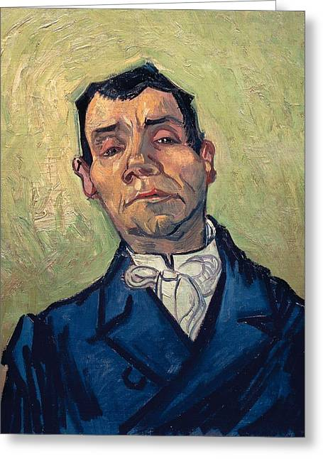 Portrait Of Man Greeting Card by Vincent van Gogh