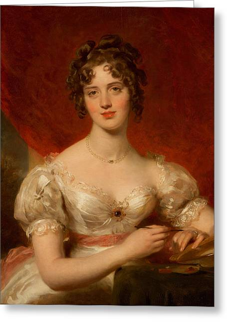 Draped Greeting Cards - Portrait of Mary Anne Bloxam Greeting Card by Thomas Lawrence