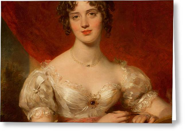 Portrait of Mary Anne Bloxam Greeting Card by Thomas Lawrence