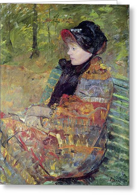 Cassatt Greeting Cards - Portrait Of Mlle Greeting Card by Celestial Images