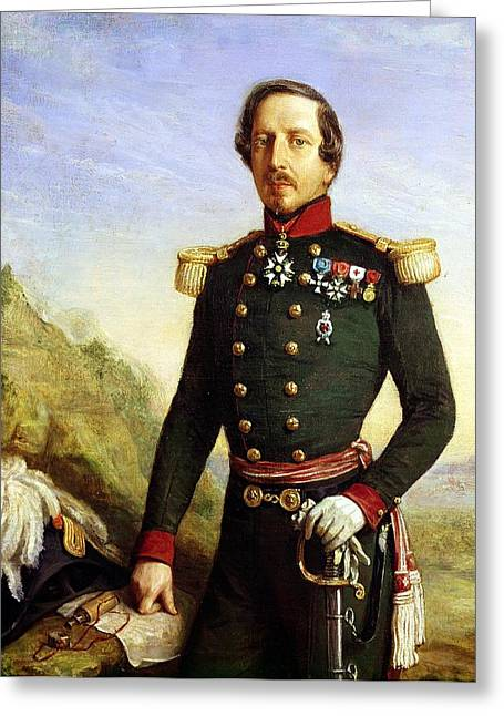Three-quarter Length Greeting Cards - Portrait Of Napoleon Iii 1808-73 1852 Oil On Canvas Detail Greeting Card by Felix Francois Barthelemy Genaille